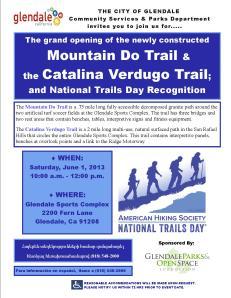 Glendale Sports Complex Trails Opening June, 1 2013
